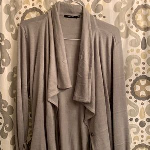 New Doe and Rae Grey Sweater Coat size L